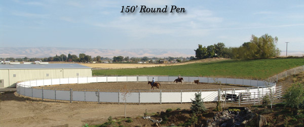 150 foot Cow Cutter Round Pen
